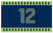 5' Feet x 3' Feet Seattle Seahawks 12th Man  Premium Flag banner