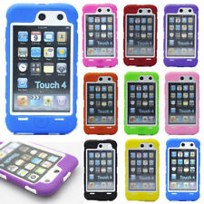 Hot New Heavy Hybrid Silicone Hard Skin Case Cover For iPod Touch 4th Gen SG