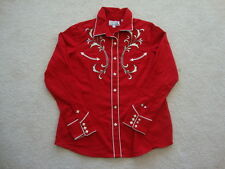 VTG Panhandle Slim Ebroidered diamond pearl snap rockabilly western Shirt M / L