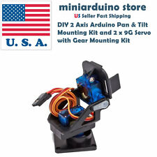 DIY 2 Axis Arduino Pan & Tilt  Mounting Kit and 2 x 9G Servo  with Gear Mounting