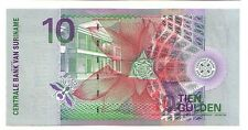Suriname   10  gulden  2000    FDS  UNC  pick 147      lotto 3233