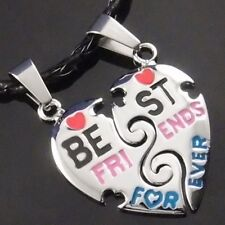 "Best Friends Forever Heart Pendant with 2 pcs of 20"" Choker Necklace SP#227"
