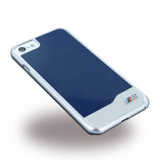 OFFICIAL BMW M SPORT ALUMINIUM FOR IPHONE 7 BACK CASE COVER BLUE-SILVE