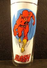 VINTAGE 1976 THE FLASH SUPER SERIES PEPSI DC COMICS ADVERTISING HERO GLASS CLEAN