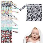Portable Baby Nappy Reusable Washable Wet Dry Cloth Zipper Waterproof Diaper Bag
