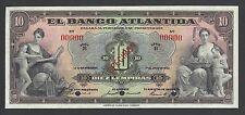 Honduras El Banco Altantida 10 Lempiras   1-7-1932  Ps124bsv2  Choice UNC