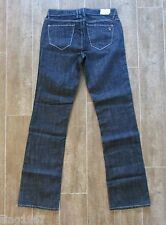 "24 "" J & Company Sz 0 Beverly Women Jeans denim $158 metallic silver thread boot"