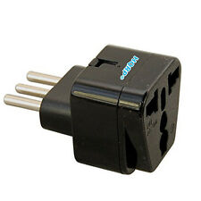 Grounded Universal Travel Plug Adapter from USA Japan Europe Swiss UK to Italy