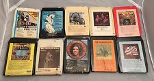 Vintage Lot of 10- 8 Track Cassette Tapes, Country, Tested-Estate Sale ��Find
