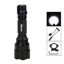Tactical 5000lm CREE XML T6 LED Flashlight Torch Shotgun/Rifle Mount+Switch