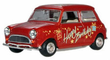 MINI - HAPPY BIRTHDAY in Red - 1:43 Die-Cast Classic Car Model by Oxford - New