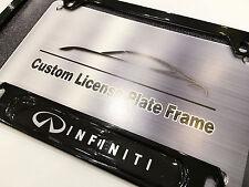 Satin Black License Plate Frame for INFINITI G35 G37 Q40 Q60 Q70 QX45 QZ60 FX50