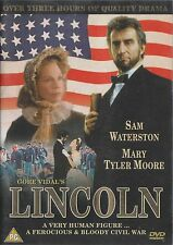 Gore Vidal's LINCOLN - Mini Series. Sam Waterston, Mary Tyler Moore.1988 (DVD01)