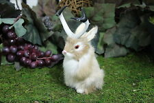 Brown Tan Jackalope Rabbit w/ Horns Easter Bunny Furry Animal Taxidermy Decor