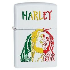 Zippo 29308 Bob Marley White Matte Finish Full Size Lighter