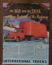 1939 Print Ad INTERNATIONAL TRUCKS the man and the truck