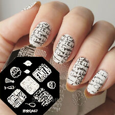 Nail Art Stamping Plates Image Stamp Template Manicure DIY Lip Cup Letter QA67
