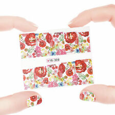 Nail Art Manicure Water Transfer Decal Stickers Flowers YB909