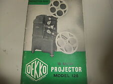 Instructions cine movie projector DEKKO 126 16mm  - CD/Email