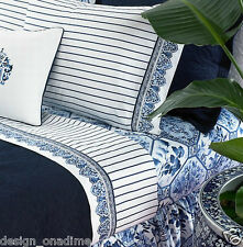 RALPH  LAUREN PALM  HARBOR  STRIPED  QUEEN  4PC  SHEET SET  SHEETS  450TC    New