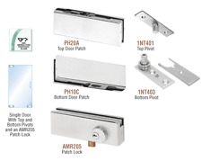 CRL Satin Anodized North American Patch Door Kit - With Lock
