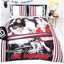 One Direction 1D (red) - Single/Twin Bed Quilt Doona Duvet Cover Set