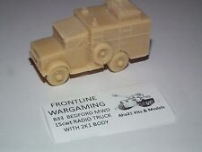 FRONTLINE WARGAMING BEDFORD MWD 15cwt RADIO TRUCK 2K1 RESIN MODEL KIT - B33