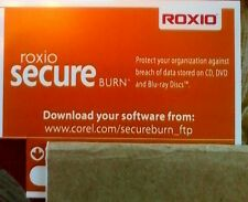 Roxio Secure Burn Product Key Card Windows Multimedia protect frm breach of data