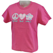 Team Realtree PLC Peace Love Camo Outdoors Flower Tshirt Youth Girls Small SML
