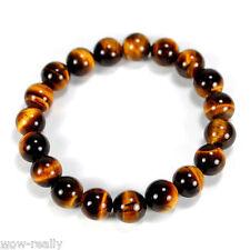 Pretty 10mm Tiger's Eye Gemstone Round Beads Stretchy Bracelet 7.5''