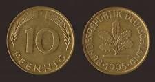 GERMANIA GERMANY 10 PFENNIG 1995 F