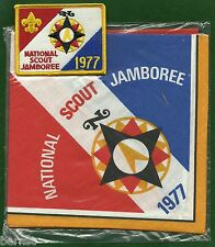 BOY SCOUT 1977 JAMBOREE  NECKERCHIEF AND PATCH - FREE SHIPPING        XX