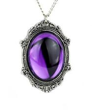 Gothic Victorian Purple Stone Necklace Vampire Steampunk Alternative Burlesque