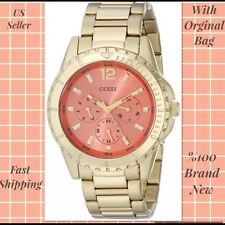 WOW+2 GIFT!  Guess coral gold high energy multifunction watch  WOMEN MEN