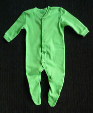 Baby clothes UNISEX BOY GIRL 0-3m bright green F&F babygrow soft cotton SEE SHOP