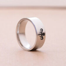 Symbolic Bond Specter Party Symbol Ring Cool Stainless Steel  SILVER SIZE 10