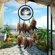 Wolf Handmade Dream Catcher with Feathers Wall Hanging Decoration Ornament Craft