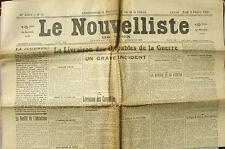 Le Nouvelliste de Lyon n°36 du 6/02/1920 - L'Incident Von Lersner - Vatican