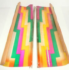 ROCK-OLA JUKEBOX * 1436 part:  RIGHT & LEFT CELLULOSE COLORED GELS w/ SIDE FRAME
