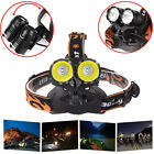 10000Lm Cree 2x T6 LED Rechargeable 18650 Headlamp Headlight Head Light Torch