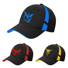 Pokemon Go Baseball Hat Team Mystic InstInct Valor Blue Yellow Red Splice Cap