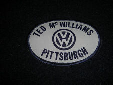 Volkswagen Ted McWilliams Pittsburgh Patch 1980's Orginal