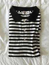 A Bathing Ape Bape Baby Milo Black/White Stripe Polo Size XL