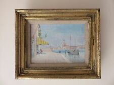 LOVELY 19THC FRAMED ORIGINAL OIL ON CANVAS - S GIORGIO MAGGIORE VENICE ITALY