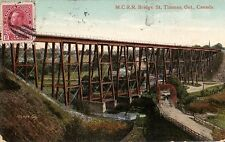 St. Thomas Ontario MCRR Bridge - Prelinen - 1912 - Good - Wear on corners.