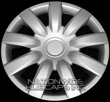 "SET OF 4 15"" Hub Caps Full Wheel Covers Rim Cap Lug Cover Hubs 9 Spoke Slots NEW"