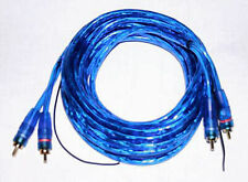 NEW 2 CHANNEL 6 FOOT BLUE RCA CABLE GOLD PLATED CAR STEREO HOME FEET