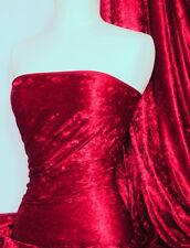 Marble Texture Velvet Lycra 4 Way Stretch Fabric- Deep Red Q172 DPRD