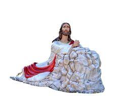 Christ in the Garden of Gethsemane fiberglass statue cm. 115 x 230