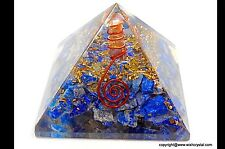 Reiki Energy Charge Large Lapis Lazuli Orgone Pyramid Powerful Energy Generator
